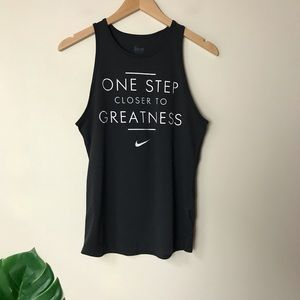 Nike | One Step Closer to Greatness Tank Top Small
